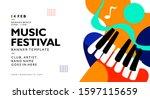 music festival banner...   Shutterstock .eps vector #1597115659