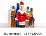 some popular alcohol  gordon ...   Shutterstock . vector #1597129000