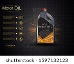 bottle engine oil on a... | Shutterstock .eps vector #1597132123