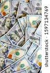 money background. one hundred... | Shutterstock . vector #1597134769
