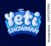 Yeti Logo. Snowman Sign. White...