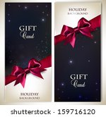 holiday banners with red bows... | Shutterstock .eps vector #159716120