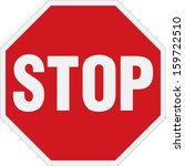 stop sign | Shutterstock .eps vector #159722510