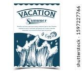 rushing tropical sea marine... | Shutterstock .eps vector #1597227766