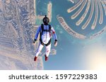 recreation. skydiving as a way... | Shutterstock . vector #1597229383