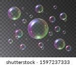 soap bubbles foamy realistic...   Shutterstock .eps vector #1597237333