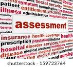 assessment medical words...   Shutterstock . vector #159723764