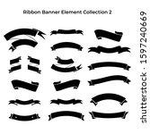 set of ribbon banner flat... | Shutterstock .eps vector #1597240669