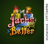 logo jack or better poker.... | Shutterstock .eps vector #1597268986