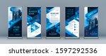 business roll up set. standee... | Shutterstock .eps vector #1597292536