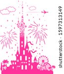 Fairytail Pink Castle With A...