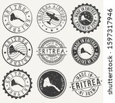 eritrea set of stamps. travel... | Shutterstock .eps vector #1597317946
