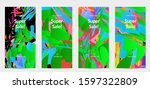abstract social media template... | Shutterstock .eps vector #1597322809