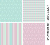 4 pastel seamless patterns | Shutterstock .eps vector #159733274