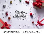 christmas decorative made of... | Shutterstock . vector #1597366753