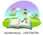 education illustration | Shutterstock .eps vector #159736796