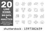 set of big data and data...   Shutterstock .eps vector #1597382659
