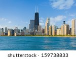 Cityscape Of Chicago In A...