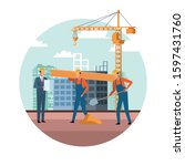 under construction scenery with ...   Shutterstock .eps vector #1597431760