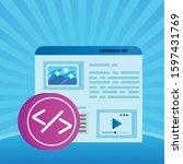 template webpage window...