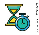 sand hourglass device with... | Shutterstock .eps vector #1597436479