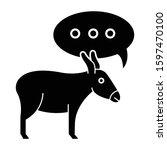 Balaam Donkey Bible Story Glyph ...