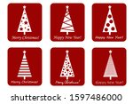 set of christmas and new year... | Shutterstock .eps vector #1597486000