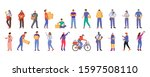 post office male and female... | Shutterstock .eps vector #1597508110