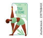 yoga at home smartphone...