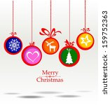 christmas greeting card.... | Shutterstock . vector #159752363