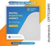 template social media post ... | Shutterstock .eps vector #1597523890