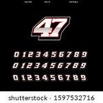 racing number design template... | Shutterstock .eps vector #1597532716