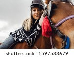 young beautiful blonde... | Shutterstock . vector #1597533679