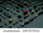 Metal Bolts  Nuts  And Washers. ...