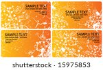 orange business cards | Shutterstock .eps vector #15975853