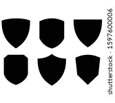 a variety of flat shields | Shutterstock .eps vector #1597600006