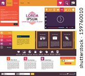 website template flat design...