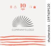 the logo of the sun  the sun's... | Shutterstock .eps vector #1597609120
