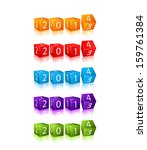 new 2014 year digits on 3d red... | Shutterstock .eps vector #159761384