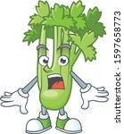 surprised celery plant gesture...   Shutterstock .eps vector #1597658773