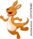 Cartoon Funny Kangaroo Is...