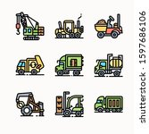 construction tools   color  ... | Shutterstock .eps vector #1597686106