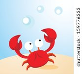 Crab. Vector Illustration Of A...