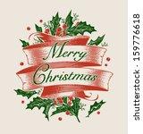 vintage engraving christmas art.... | Shutterstock .eps vector #159776618