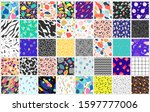abstract colorful patterns.... | Shutterstock . vector #1597777006