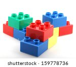 building blocks isolated on... | Shutterstock . vector #159778736