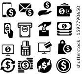 Payment Icons Vector Set. Mone...