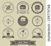 fast food vintage label | Shutterstock .eps vector #159779768