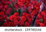 Stock photo bouquets of beautiful roses 159780146