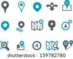 vector icons pack   blue series ... | Shutterstock .eps vector #159782780